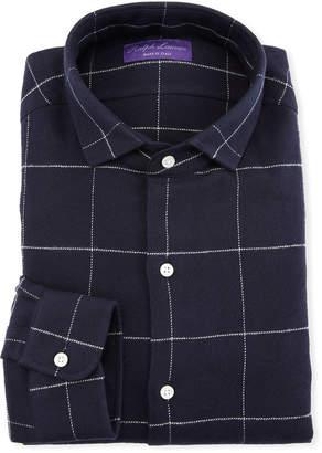 Ralph Lauren Men's Windowpane Dress Shirt