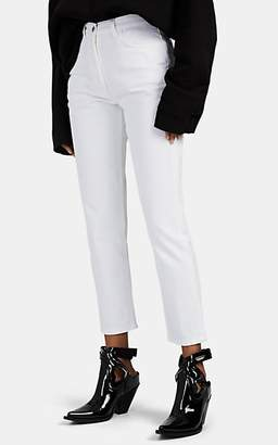 A PLAN APPLICATION Women's Straight Crop Jeans - White