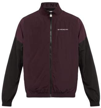 Givenchy Two Tone Windbreaker Jacket - Mens - Dark Purple
