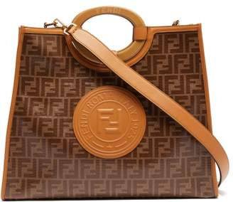 Fendi Runaway Medium Ff Coated Canvas Tote Bag - Womens - Tan Multi