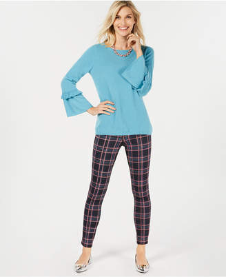 Charter Club Pure Cashmere Ruffled-Sleeve Sweater, Created for Macy's