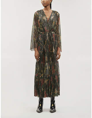 BA&SH Hendrix floral-print pleated woven midi dress
