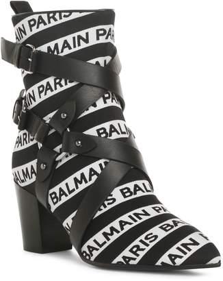 Balmain Jilly stripe logo ankle boots