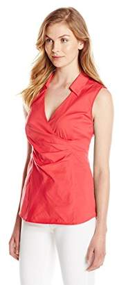 NYDJ Women's Fit Solution Sleeveless Wrap Top