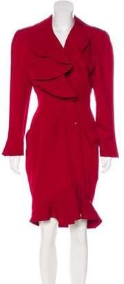 Thierry Mugler Long Sleeve Midi Dress