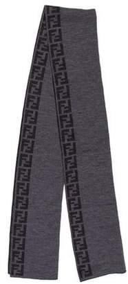 Fendi Zucca FF Logo Wool Scarfs w/ Tags