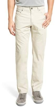 Brax Flat Front Stretch Cotton Straight Leg Trousers