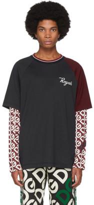 Dolce & Gabbana Black Royals Long Sleeve T-Shirt