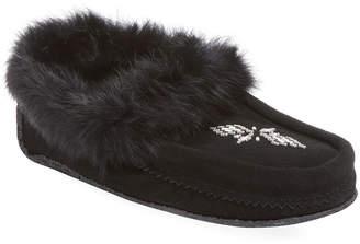 Manitobah Mukluks Traveller Suede & Fur Moccasin