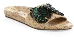 Schutz Leeya Sequin Cork Slides