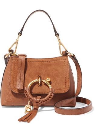 See by Chloe Joan Mini Suede-paneled Textured-leather Shoulder Bag - Tan