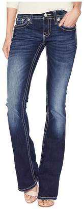 Miss Me Low Rise Boot w/ Cross in Dark Blue Women's Jeans