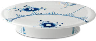 Royal Copenhagen Blue Fluted Mega Footed Cake Plate