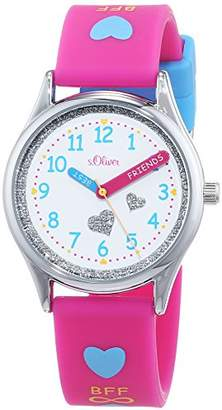 S'Oliver Girls' Analogue Quartz Watch with Silicone Strap SO-3501-PQ