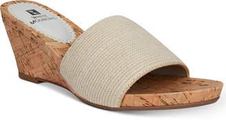 White Mountain Aleah Slide Wedge Sandals Women's Shoes