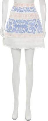 Alexis Embroidered Mini Skirt w/ Tags