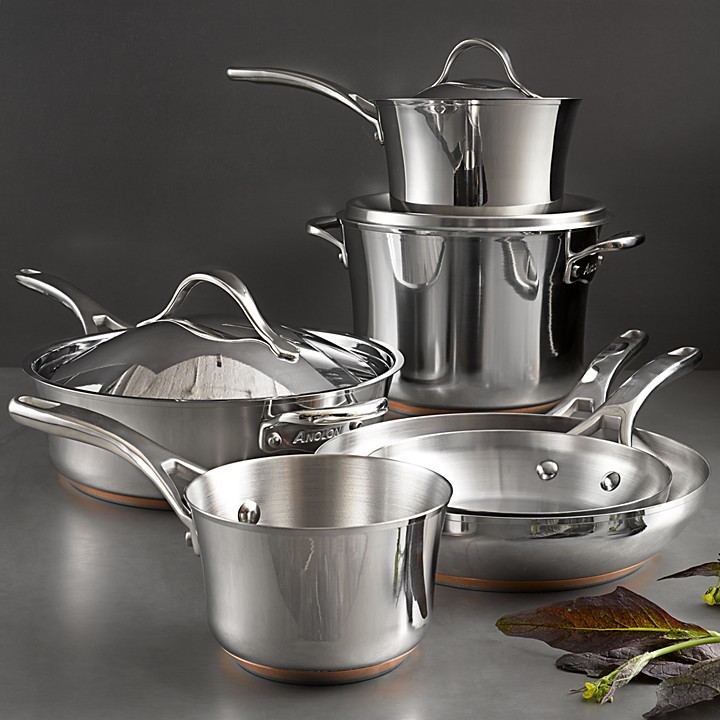 Anolon Nouvelle Stainless Steel 9-Piece Cooking Set