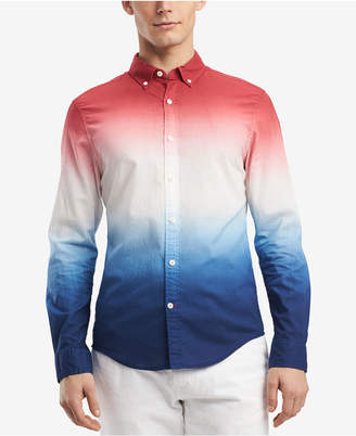 Tommy Hilfiger Men's Shay Ombre Dip-Dyed Classic Fit Shirt, Created for Macy's