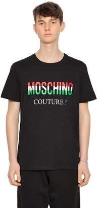 Moschino Italy Logo Printed Jersey T-Shirt