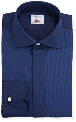 Finamore Men's Pleated Bib Tuxedo Shirt