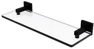 Allied Brass Montero Collection 16 Inch Glass Vanity Shelf with Beveled Edges