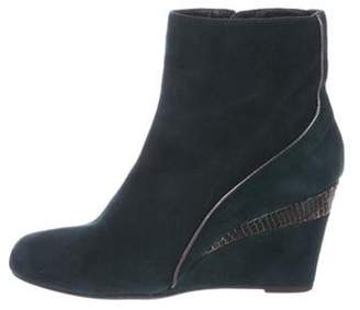 Aquatalia Suede Wedge Ankle Boots Suede Wedge Ankle Boots
