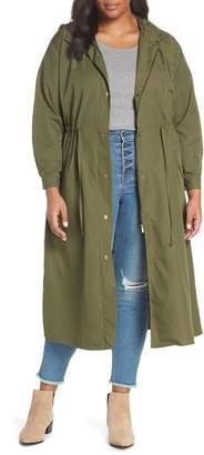 Vince Camuto Water Resistant Hooded Rain Jacket