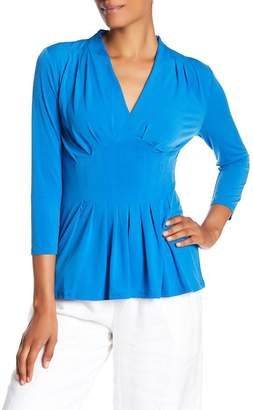 Catherine Malandrino V-Neck Stretch Blouse