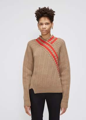 Jil Sander Long Sleeve V-Neck Sweater