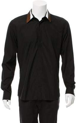 Givenchy Contrast Collar Button-Up Shirt