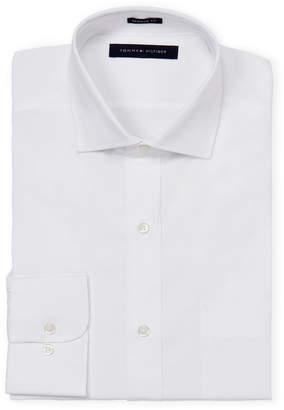 Tommy Hilfiger Regular Fit Cutaway Collar Long Sleeve Dress Shirt