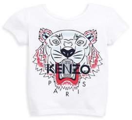 Kenzo Girl's Tiger Cotton Tee