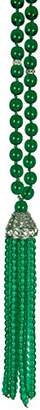 Kenneth Jay Lane Womens 5606NE Necklace Emerald/Crystals