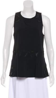 Jonathan Simkhai Embroidered Sleeveless Top w/ Tags