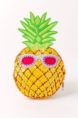 Shirdee Pineapple Beaded Coin Purse - Yellow
