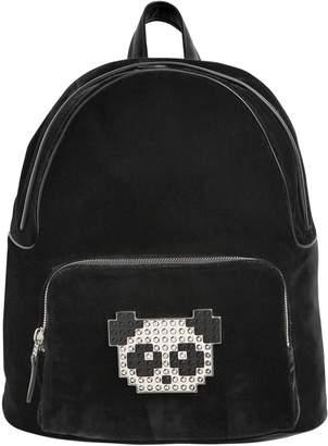 Les Petits Joueurs Velvet & Leather Panda Backpack