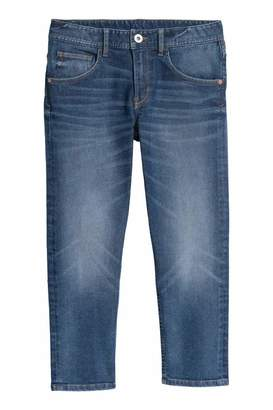 H&M Relaxed Tapered Fit Jeans - Dark blue denim - Kids