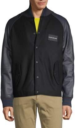 d0e98805b Calvin Klein Leather Jacket Mens - ShopStyle
