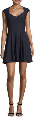 My Michelle Short Sleeve Skater Dress-Juniors