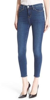 Women's L'Agence Margot High Waist Crop Jeans $225 thestylecure.com