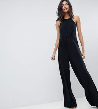 Asos Tall Slinky Jumpsuit With Gathered Waist
