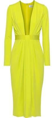 Cushnie Draped Neon Stretch-jersey Dress