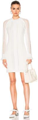 3.1 phillip lim Long Sleeve Pointelle Lace Dress $550 thestylecure.com