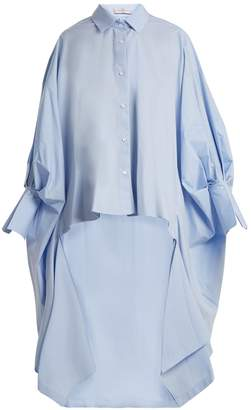 Palmer Harding PALMER/HARDING Point-collar cotton-blend poplin shirt