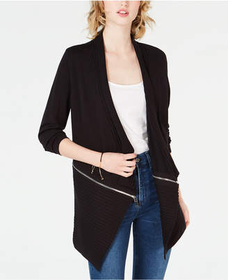 Bar III Zipper Completer Cardigan