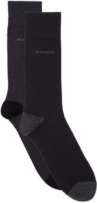 BOSS Solid Logo Socks (Pack of 2)