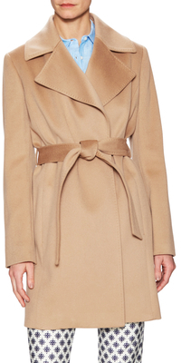 Wool Belted Wrap Coat $898 thestylecure.com