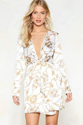 Nasty Gal All Wrapped Up in It Mini Dress