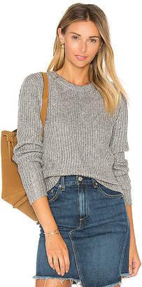 HELFRICH Camden Crew Sweater in Gray $210 thestylecure.com