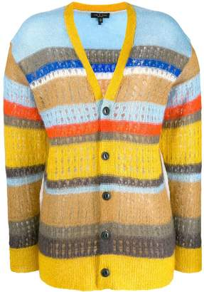 Rag & Bone striped colour block cardigan